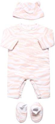 Kenzo TIGER COTTON JERSEY ROMPER, HAT & SOCKS