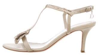 Christian Dior Ruffle-Accented Leather Sandals