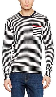 Tommy Hilfiger Men's Two Col Striped C-NK CF Cardigan
