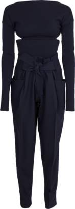 Victoria Beckham Backless Bodysuit With Trouser