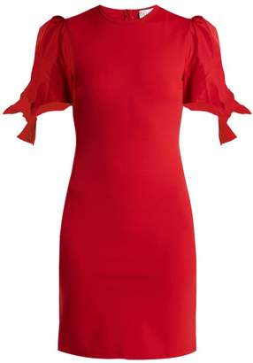 RED Valentino Albito Puff Sleeve Jersey Dress - Womens - Red