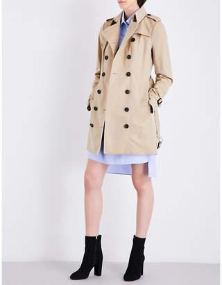 Burberry Ladies Light Brown Timeless Sandringham Cotton Trench Coat