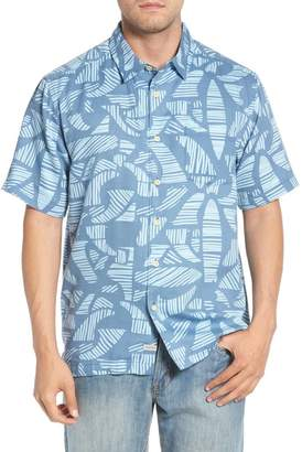 Quiksilver Waterman Collection Abst Seas Classic Fit Camp Shirt