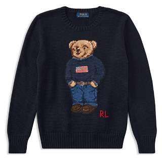Ralph Lauren Boys' Polo Bear Cotton Sweater - Big Kid