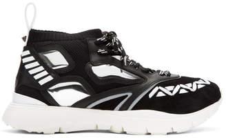 Valentino Black Garavani Heroes Reflex High-Top Sneakers