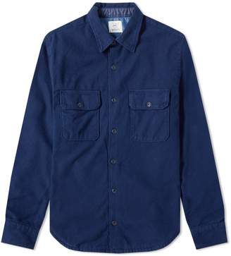 Save Khaki Twill Flannel Camp Shirt