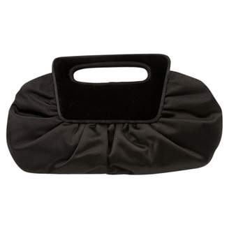 e100a906cab16 Christian Louboutin Black Velvet Clutch Bag