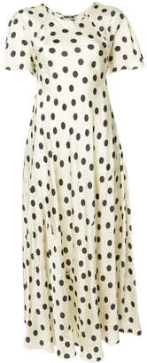 Hache polka dot maxi dress