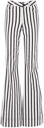 Alice + Olivia 'Beta' stripe flared leg jeans