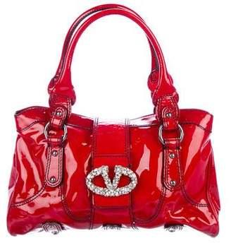Valentino Crystal-Embellished Catch Bag