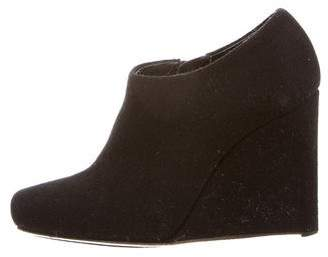 Calvin Klein Collection Square-Toe Wedge Booties
