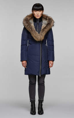 Mackage TRISH fitted winter down coat with fur-lined and splittable hood