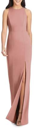 Dessy Collection Sleeveless Crepe Gown