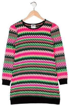 Milly Minis Patterned Wool Sweater