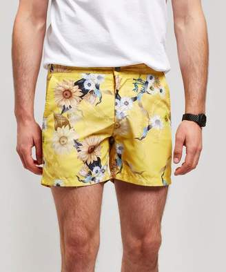 Riz Buckler Sunshine Wave Flower Swim Shorts