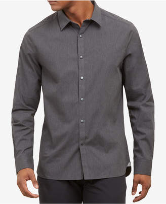 Kenneth Cole New York Kenneth Cole Men's Heathered Snap-Front Shirt