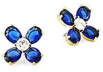 Tory Burch Women's Buddy Glass Clover Stud Earrings