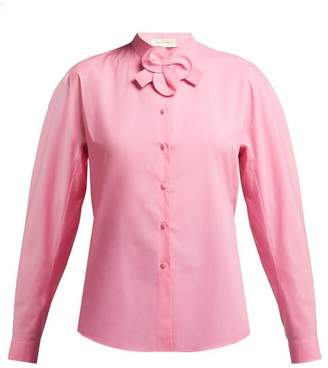 DELPOZO Floral Detail Cotton Shirt - Womens - Pink