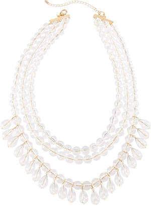 Lydell NYC Lucite® Multi-Row Beaded Necklace, Clear