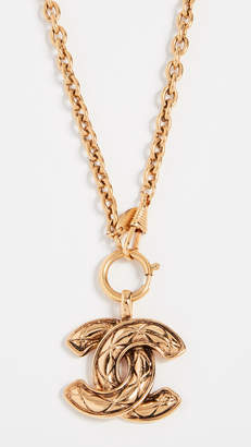 Chanel What Goes Around Comes Around Quilted CC Necklace