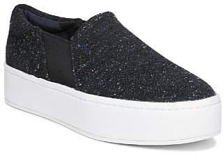 Vince Women's Warren Almond-Toe Slip-On Tweed Platform Sneakers