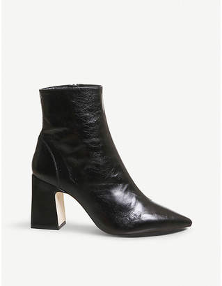 Office Alto pointed block-heel leather ankle boots