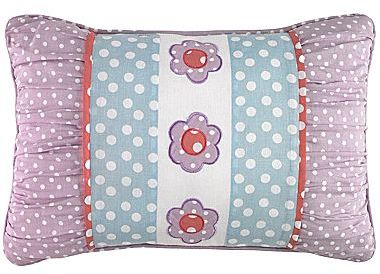 JCPenney Petals Floral Oblong Embroidered Decorative Pillow
