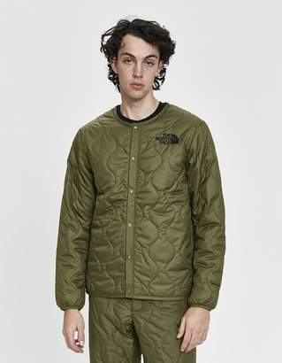 The North Face Black Series KK SS Padded Cardigan in Burnt Olive Green