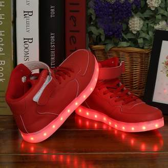 Fashionable Boban Women Lady Breathable LED Light Lace Up Luminous Shoes Sneaker