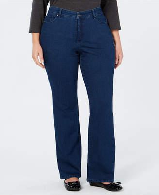 Charter Club Plus Size Prescott Bootcut Tummy-Control Jeans