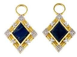 Jude Frances 18K Labradorite & Onyx Diamond Earring Enhancers
