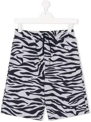 Kenzo TEEN zebra print shorts