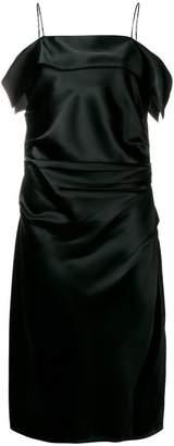 Helmut Lang gathered shift dress