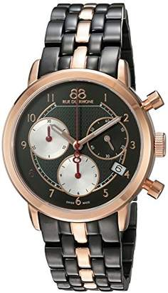 88 Rue du Rhone Women's 'Double 8 Origin' Swiss Quartz Stainless Steel Dress WatchMulti Color (Model: 87WA143507)