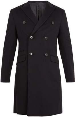 Prada Double-breasted peak-lapel overcoat