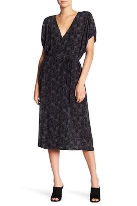 Vince Floral Dot Kimono Wrap Dress