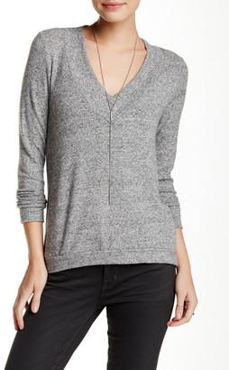 Harlowe & Graham V-Neck Soft Knit Fleece Sweater (Petite) $48 thestylecure.com