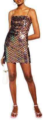Topshop Sequin Mini Dress