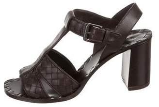 Bottega Veneta Leather Woven Sandals