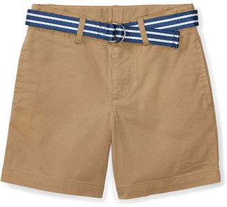 Ralph Lauren Boys 2-7 Belted Stretch Cotton Short $39.50 thestylecure.com