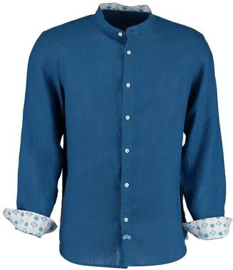 Tobias Clothing - Goa Teal Blue Linen Shirt
