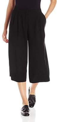 Paris Sunday Women's Pleated Coulotte Crepe Pant