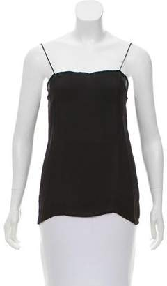 Calvin Klein Collection Sleeveless Semi-Sheer Top