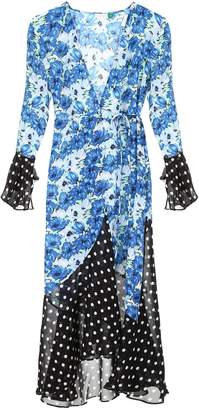 Rixo London Dress With Double Print