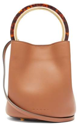 Marni Pannier Small Leather Bucket Bag - Womens - Brown