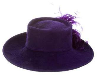Philip Treacy Wool Wide Brim Hat