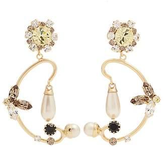 Erdem Crystal-embellished clip-on earrings