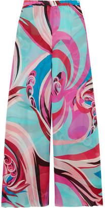Emilio Pucci Printed Silk-georgette Pants - Pink
