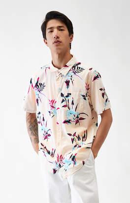 RVCA Moonflower Short Sleeve Button Up Shirt