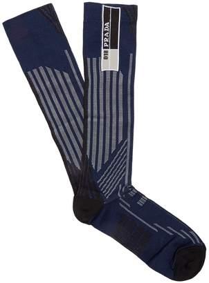 Prada Striped geometric-jacquard socks